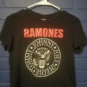 Ramones Black Crop Top